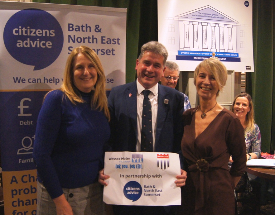 Wessex Water, Bath City Football Club and Citizens Advice Bath and North East Somerset partnership