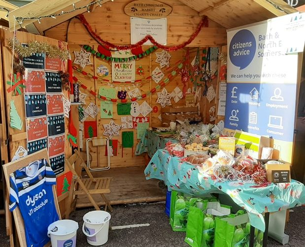 Citizens Advice Bath and North East Somerset Bath Christmas Market 2019 chalet