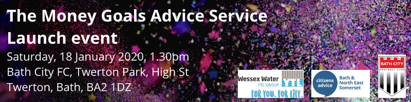 Money Goals Advice Service Launch event banner