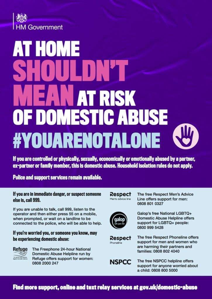 Anti-domestic abuse campaign poster