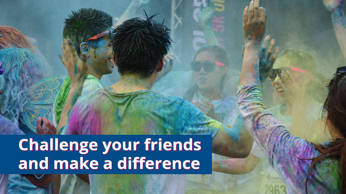 Click here to get ideas for what challenges and events you can take part in.